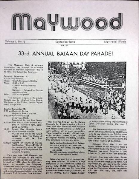 MaywoodNewsletter September 1975