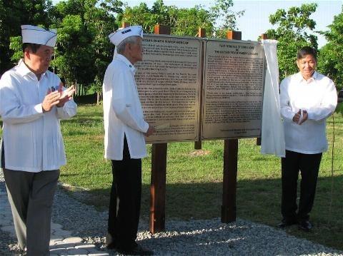L to R: Col. Estrada, Undersecretary Carolina, and Jon Skelly, Director, US Dept. of Veterans Affairs, US Embassy, Manila