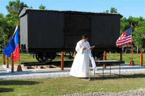 Invocation by local Parish Priest Rev Fr Dimaculangan