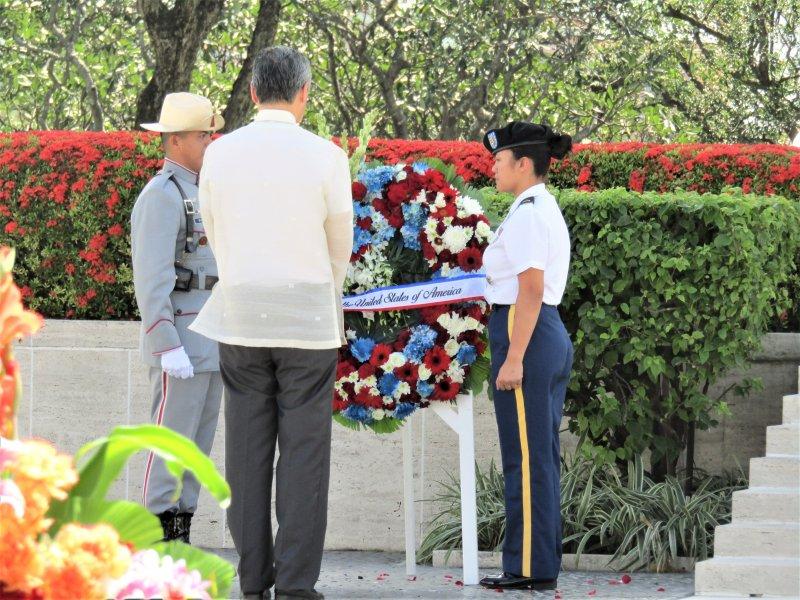Presentation of Wreath by US Ambassador Sung Y. Kim