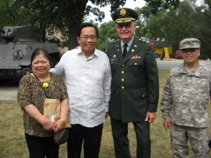 From left to right: Ms. Leticia Jimenez, Consul General Herrera-Lim, Col. Richard McMahon (ret.), MBDO President, and Mr. Edward Brotonel, MBDO Director. Photo: courtesy of MBDO