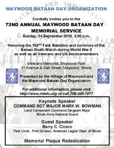 2014 MBDO Bataan Day invitation POSTCARD