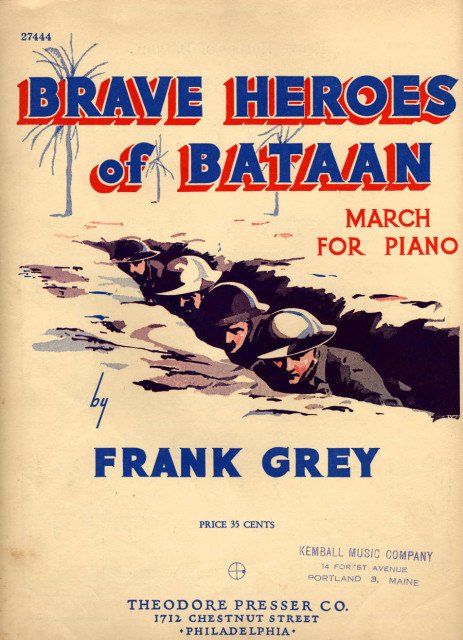 Brave Heroes of Bataan - Sheet Music