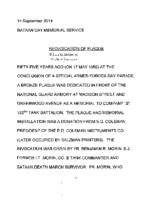 MBDO-MemorialPlaqueDedication