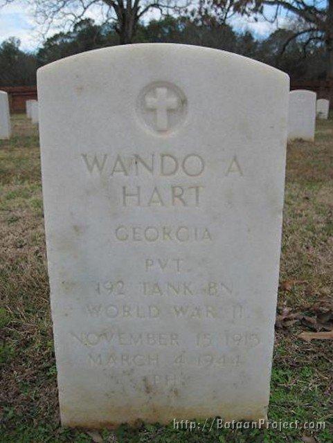 Pvt. Hart's headstone