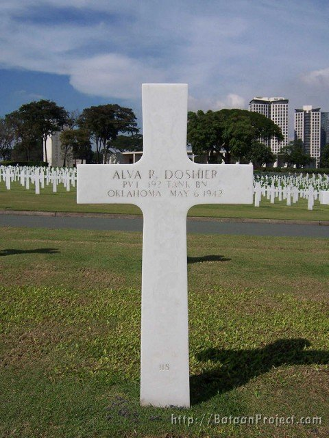Pvt. Doshier cross
