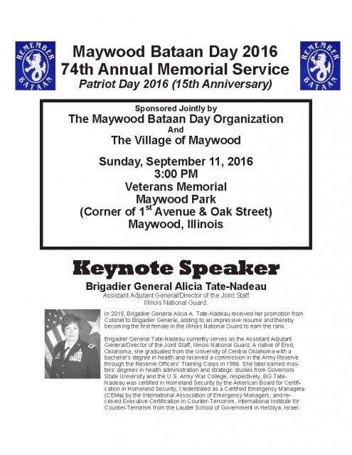 Bataan Day Event Details - 9/11/16