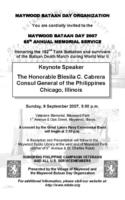 2007 MBDO Bataan Day invitation 5×8