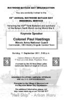2011 MBDO Bataan Day invitation 5×8